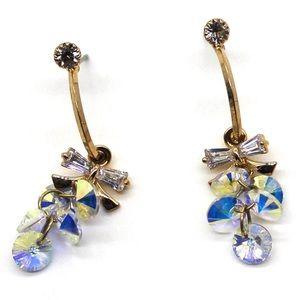 Gold sweety sparkling swarovski crystal earrings